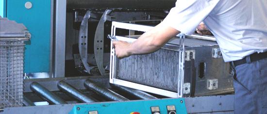 Maintenance filtres électrostatiques