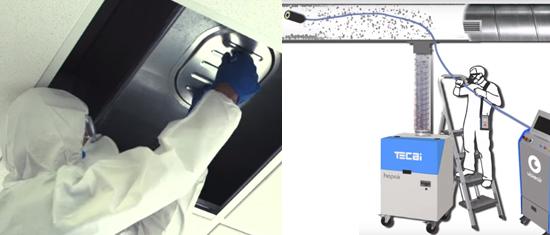 Nettoyage des gaines de ventilation avec robot