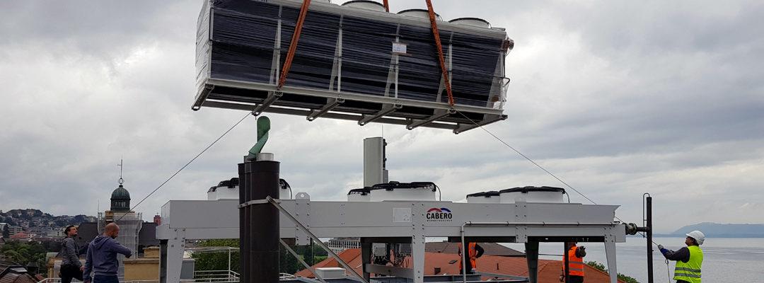Remplacement de l'installation de climatisation chez Coop City, à Neuchâtel
